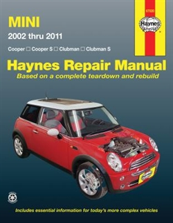 Haynes 67020 Mini Repair Manual Covering Cooper and Clubman for 2002 thru 2011