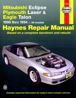 Haynes 68030 Mitsubishi Eclipse, Plymouth Laser & Eagle Talon Repair Manual for 1990 thru 1994