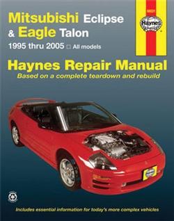 Haynes 68031 Mitsubishi Eclipse and Eagle Talon Repair Manual for 1995 thru 2005