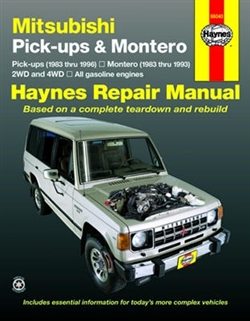 Haynes 68040 Mitsubishi Pick-Ups & Montero Repair Manual for 1983 thru 1996