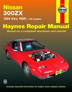 Haynes 72010 Nissan 300ZX Repair Manual for 1984 thru 1989 Models