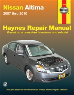 Haynes 72016 Nissan Altima Repair Manual for 2007 thru 2010