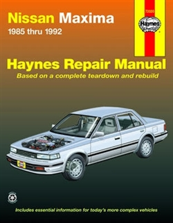 Haynes 72020 Nissan Maxima Repair Manual for 1985 thru 1992