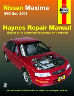 Haynes 72021 Nissan Maxima Repair Manual for 1993 thru 2004 Models