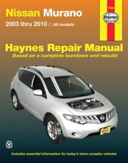 Haynes 72025 Nissan Murano Repair Manual for 2003 thru 2010