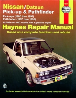 Haynes 72030 Nissan/Datsun Pick-Up and Pathfinder Repair Manual for 1980 thru 1997