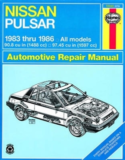 Haynes 72040 Nissan Pulsar Repair Manual for 1983 thru 1986 Covering All Models
