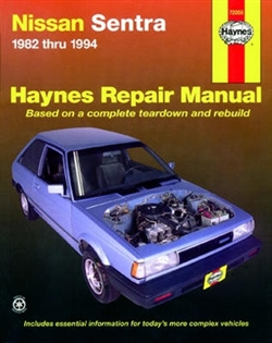 Haynes 72050 Nissan Sentra Repair Manual for 1982 thru 1994