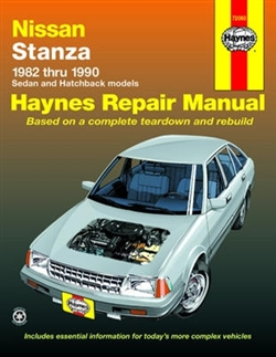 Haynes 72060 Nissan Stanza Repair Manual for 1982 thru 1990
