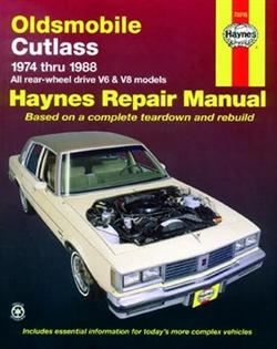 Haynes 73015 Oldsmobile Cutlass Repair Manual for 1974 thru 1988