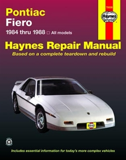 Haynes 79008 Pontiac Fiero Repair Manual for 1984 thru 1988