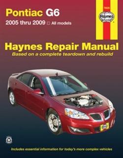 Haynes 79025 Pontiac G6 Repair Manual for 2005 thru 2009