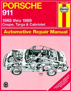 Haynes 80020 Porsche 911 Repair Manual for 1965 thru 1989