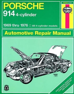 Haynes 80025 Porsche 914 4-Cylinder Repair Manual for 1969 thru 1976