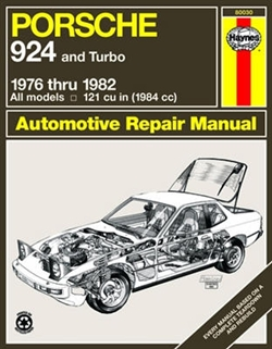 Haynes 80030 Porsche 924 Repair Manual for 1976 thru 1982 Covering All Models Including Turbo