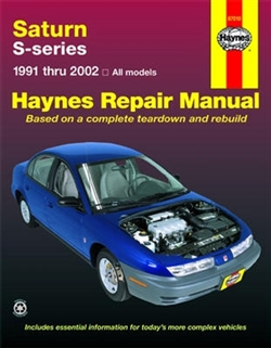 Haynes 87010 Saturn S-Series Repair Manual Covering All 1991 thru 2002