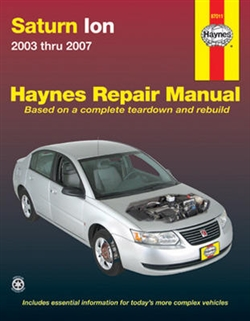 Haynes 87011 Saturn Ion Repair Manual for 2003 thru 2007