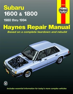 Haynes 89003 Subaru Repair Manual for 1980 thru 1994
