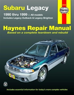 Haynes 89100 Subaru Legacy Repair Manual Covering All 1990 thru 1999 Legacy Models