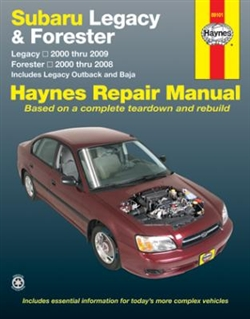 Haynes 89101 Subaru Legacy and Forester Repair Manual for 2000 thru 2009