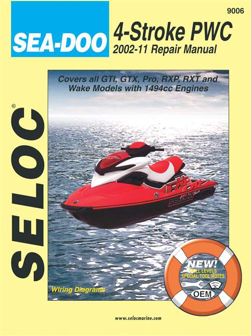 sea doo jet ski repair manual gti gtx pro rxp rxt and wake rh themanualstore com