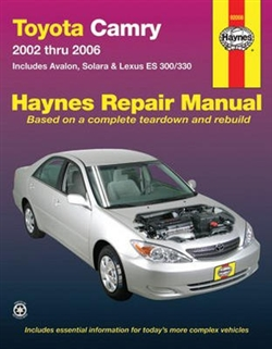 Haynes 92008 Toyota Camry Repair Manual for 2002 thru 2006