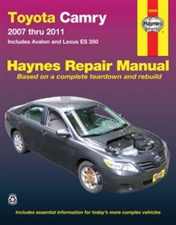 Haynes 92009 Toyota Camry and Avalon and Lexus ES 350 Repair Manual for 2007 thru 2011