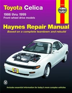 Haynes 92020 Toyota Celica Repair Manual Covering All 1986 thru 1999 FWD Models