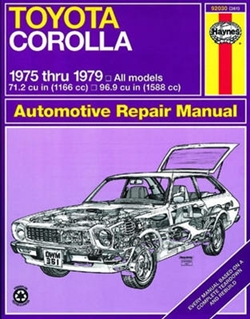 Haynes 92030 Toyota Corolla Repair Manual from 1975 thru 1979