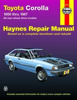 Haynes 92032 Toyota Corolla Repair Manual from 1980 thru 1987