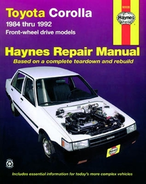 haynes repair manual for toyota corolla covering all fwd models from rh themanualstore com haynes repair manual toyota corolla 1993 thru 2002 haynes repair manual toyota camry pdf