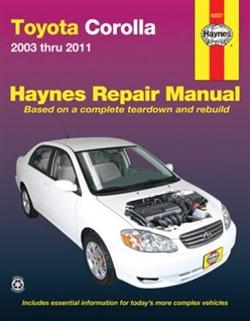 Haynes 92037 Toyota Corolla Repair Manual for 2003 thru 2011