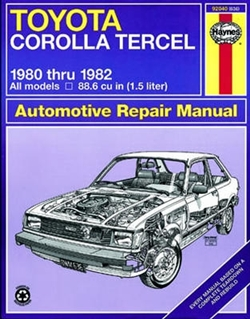 Haynes 92040 Toyota Corolla Tercel Repair Manual from 1980 thru 1982
