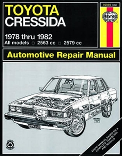 Haynes 92050 Toyota Cressida Repair Manual Covering All 1978 thru 1982 Models