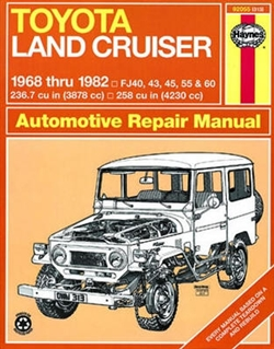 Haynes 92055 Toyota Land Cruiser Repair Manual from 1968 thru 1982