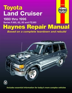 Haynes 92056 Toyota Land Cruiser Repair Manual from 1980 thru 1996