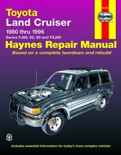 Haynes 92056 Toyota Land Cruiser Repair Manual from 1980 thru 1996