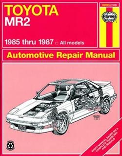 Haynes 92065 Toyota MR2 Repair Manual from 1985 thru 1987