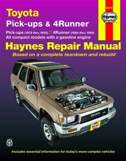 Haynes 92075 Toyota Repair Manual for 1979 thru 1995
