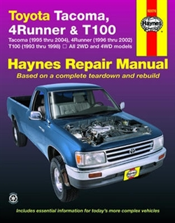 Haynes 92076 Toyota Tacoma, 4-Runner & T100 Repair Manual for 1993 thru 2004