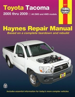 Haynes 92077 Toyota Tacoma Repair Manual Covering 2005 thru 2009 Models