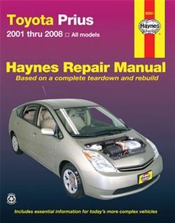 Haynes 92081 Toyota Prius Repair Manual Covering 2001 thru 2008 Models