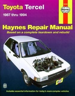 Haynes 92085 Toyota Tercel Repair Manual for 1987 thru 1994