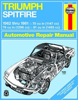 Haynes 94007 Triumph Spitfire Repair Manual for 1962 thru 1981
