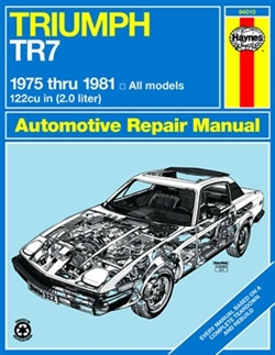 Haynes 94010 Triumph TR7 Repair Manual for 1975 thru 1981