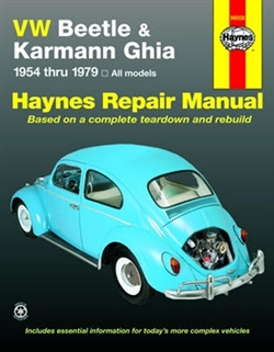 Haynes 96008 Volkswagen Beetle & Karmann Ghia Repair Manual for 1954 thru 1979