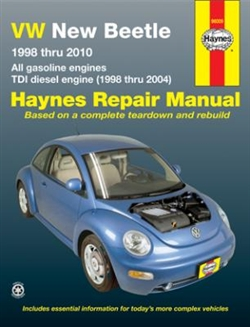 Haynes 96009 Volkswagen New Beetle Repair Manual for 1998 thru 2010