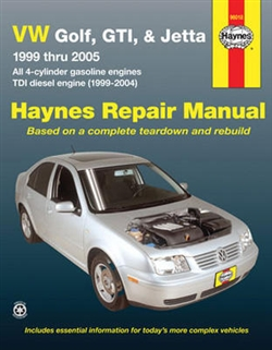 Haynes 96018 Volkswagen Golf, GTI and Jetta Repair Manual for 1999 thru 2005 Models