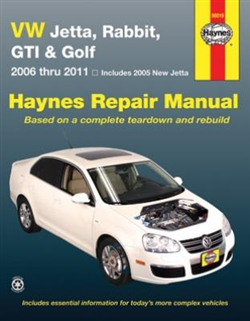 Haynes 96019 Volkswagen Jetta, Rabbit, GTI and Golf Repair Manual for 2006 thru 2011