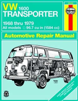 Haynes 96030 Volkswagen 1600 Transporter Repair Manual for 1968 thru 1979 Models